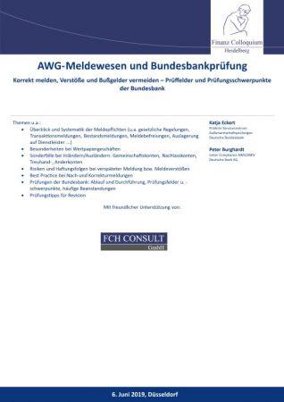 AWGMeldewesen und Bundesbankpruefung