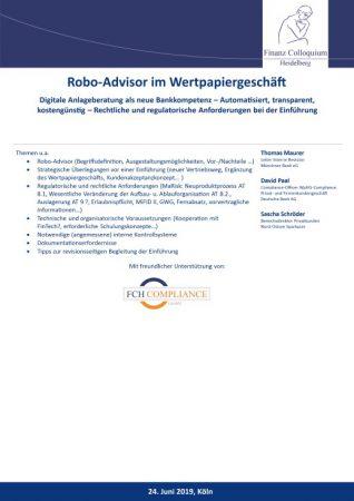 RoboAdvisor im Wertpapiergeschaeft