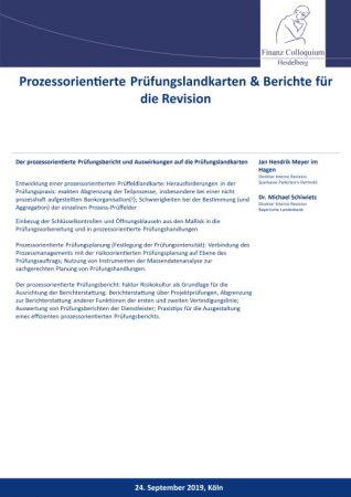 Prozessorientierte Pruefungslandkarten Berichte fuer die Revision