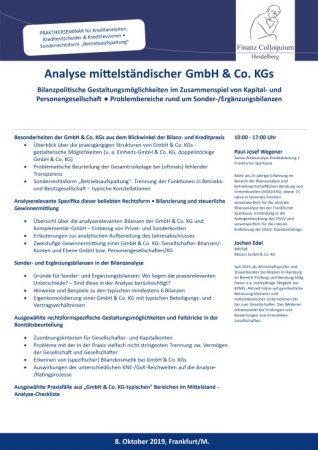 Analyse mittelstaendischer GmbH Co KGs