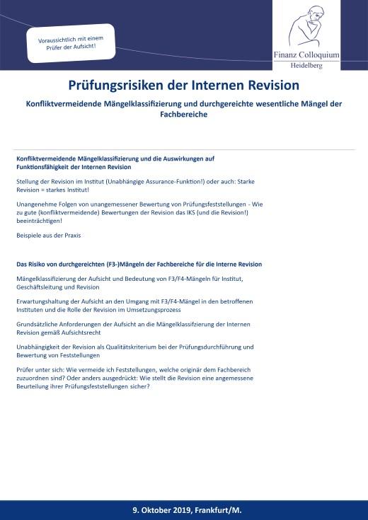 Pruefungsrisiken der Internen Revision
