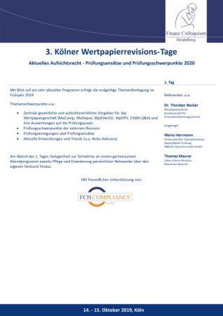 3 Koelner WertpapierrevisionsTage