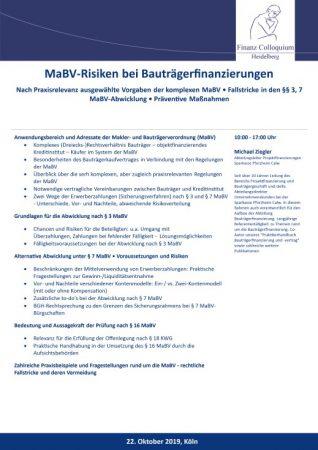 MaBVRisiken bei Bautraegerfinanzierungen