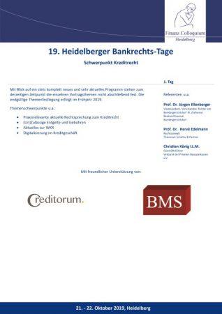 19 Heidelberger BankrechtsTage