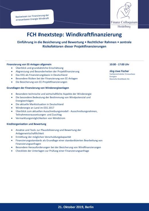 FCH nextstep Windkraftfinanzierung