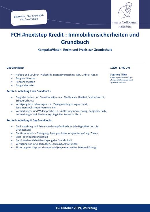 FCH nextstep Kredit Immobiliensicherheiten und Grundbuch