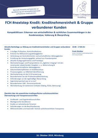 FCH nextstep Kredit Kreditnehmereinheit Gruppe verbundener Kunden