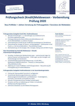 Pruefungscheck KreditMeldewesen Vorbereitung Pruefung 2020