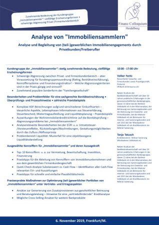 Analyse von Immobiliensammlern