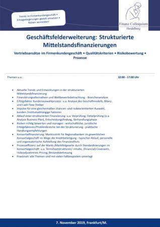 Geschaeftsfelderweiterung Strukturierte Mittelstandsfinanzierungen