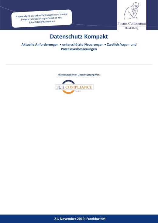 Datenschutz Kompakt