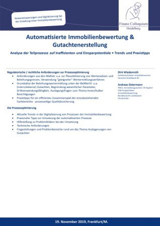 Automatisierte Immobilienbewertung Gutachtenerstellung