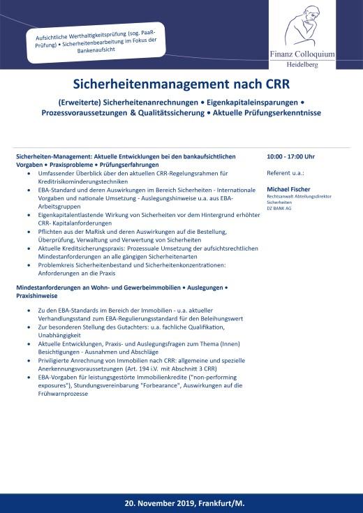 Sicherheitenmanagement nach CRR
