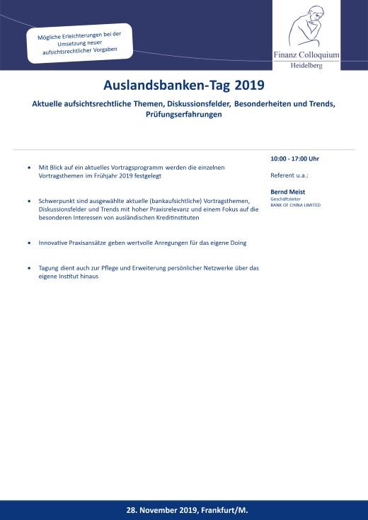 AuslandsbankenTag 2019