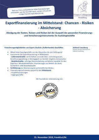 Exportfinanzierung im Mittelstand Chancen Risiken Absicherung