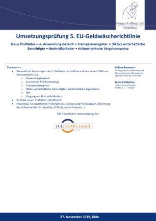 Umsetzungspruefung 5 EUGeldwaescherichtlinie