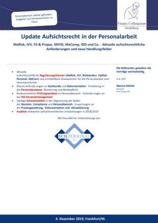 Update Aufsichtsrecht in der Personalarbeit
