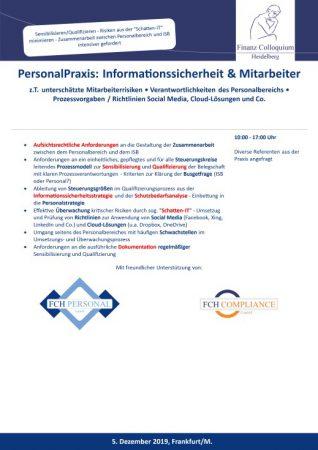 PersonalPraxis Informationssicherheit Mitarbeiter