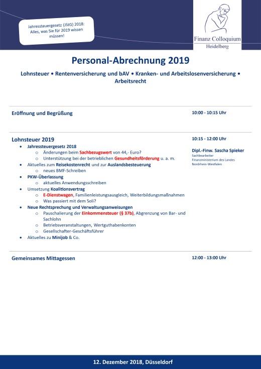 PersonalAbrechnung 2019