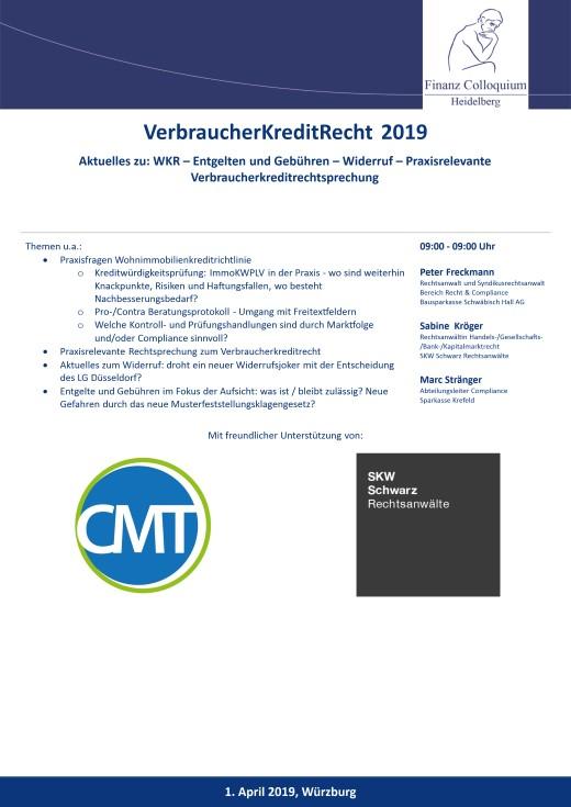 VerbraucherKreditRecht 2019