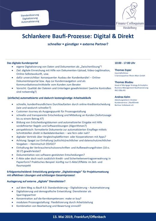 Schlankere BaufiProzesse Digital Direkt