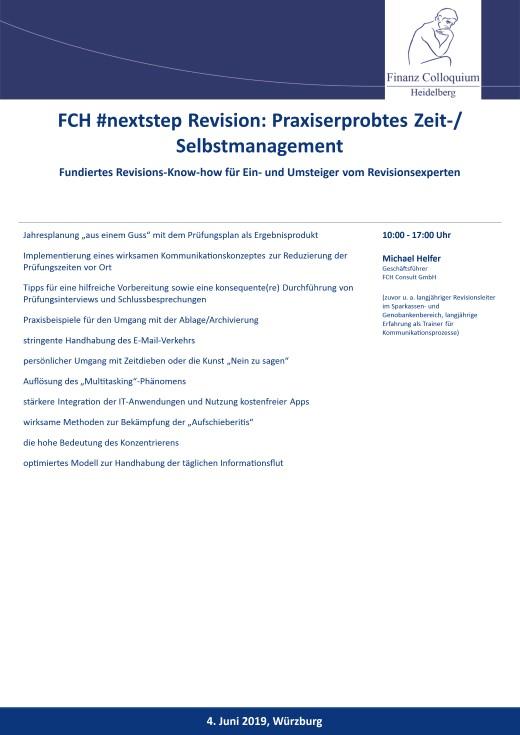 FCH nextstep Revision Praxiserprobtes Zeit Selbstmanagement