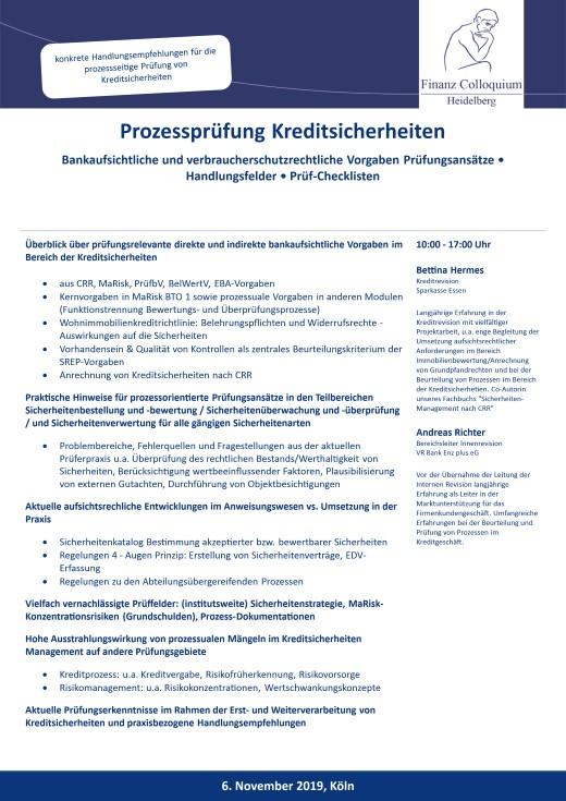 Prozesspruefung Kreditsicherheiten