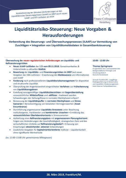 LiquiditaetsrisikoSteuerung Neue Vorgaben Herausforderungen