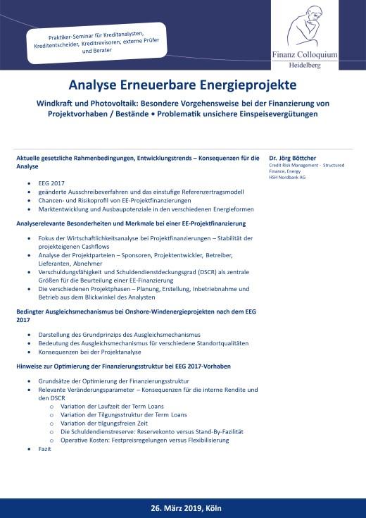 Analyse Erneuerbare Energieprojekte