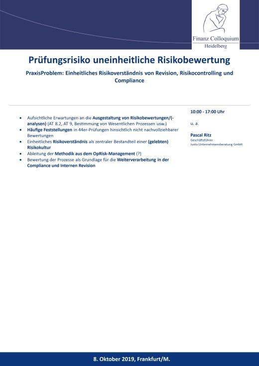 Pruefungsrisiko uneinheitliche Risikobewertung