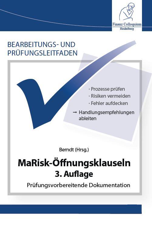 Bearbeitungs und Pruefungsleitfaden MaRiskOeffnungsklauseln 3 Auflage