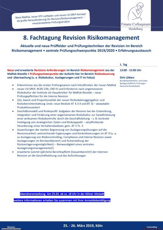 8 Fachtagung Revision Risikomanagement