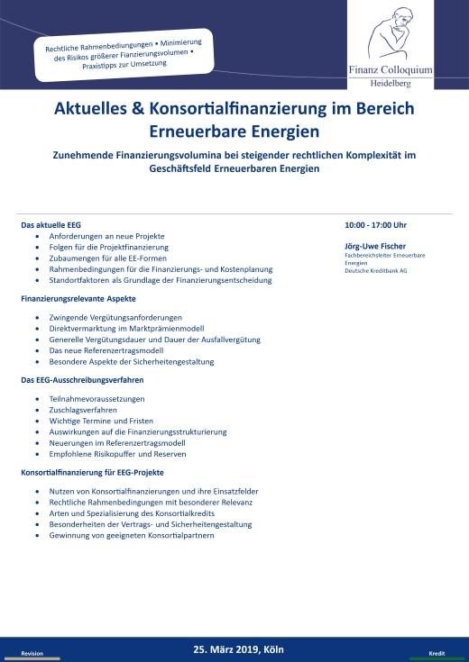 Aktuelles Konsortialfinanzierung im Bereich Erneuerbare Energien