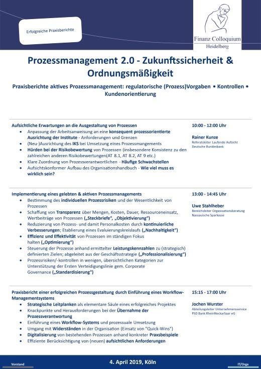Prozessmanagement 20 Zukunftssicherheit Ordnungsmaeigkeit