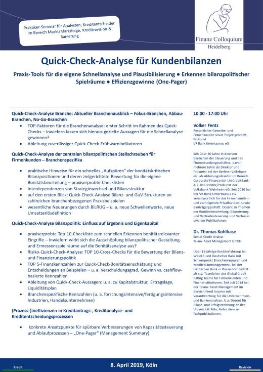 QuickCheckAnalyse fuer Kundenbilanzen
