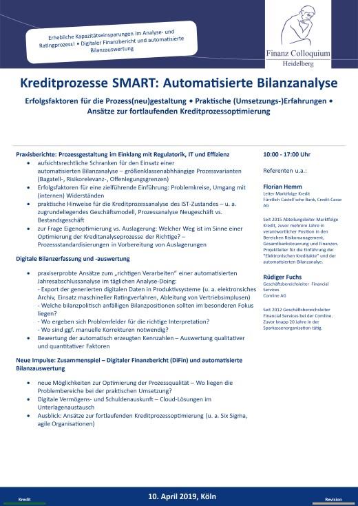 Kreditprozesse SMART Automatisierte Bilanzanalyse
