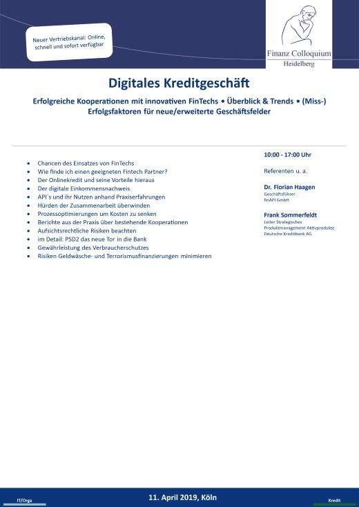 Digitales Kreditgeschaeft
