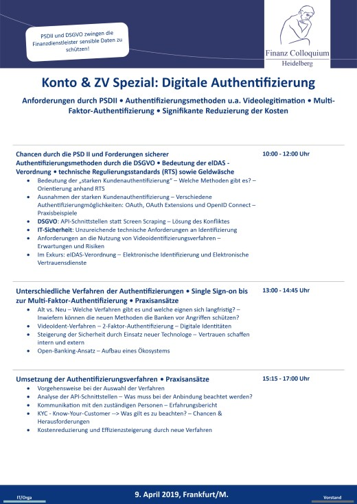Konto ZV Spezial Digitale Authentifizierung