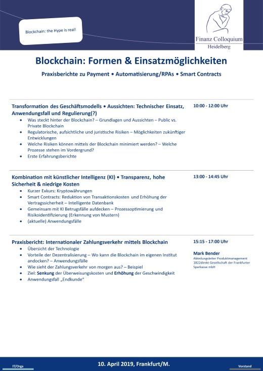 Blockchain Formen Einsatzmoeglichkeiten