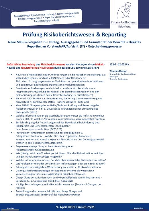 Pruefung Risikoberichtswesen Reporting