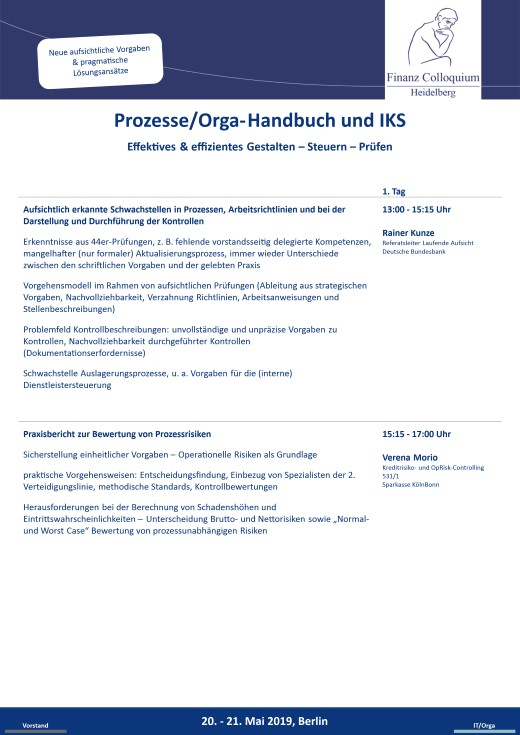 ProzesseOrgaHandbuch und IKS