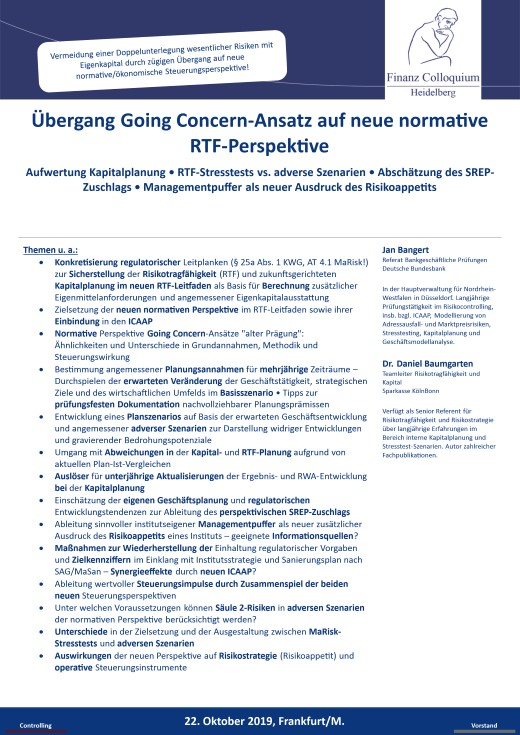 Uebergang Going ConcernAnsatz auf neue normative RTFPerspektive