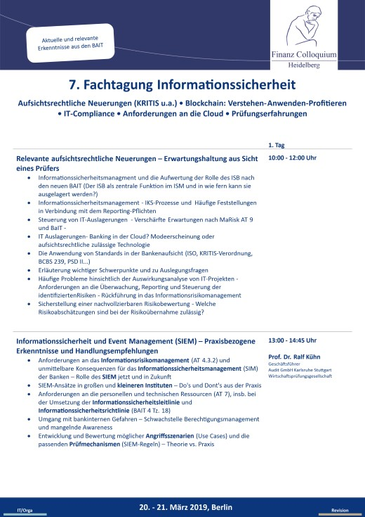 7 Fachtagung Informationssicherheit