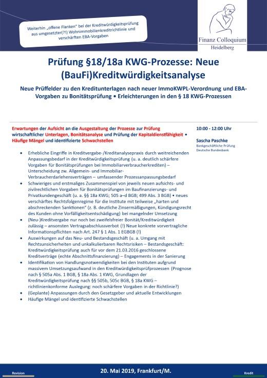 Pruefung 1818a KWGProzesse Neue BauFiKreditwuerdigkeitsanalyse