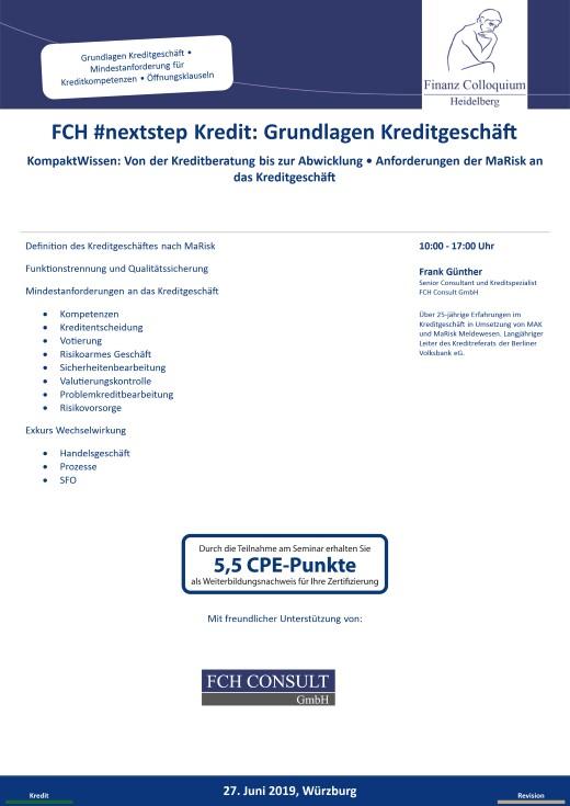 FCH nextstep Kredit Grundlagen Kreditgeschaeft
