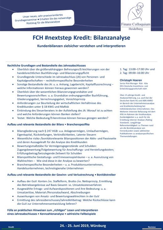 FCH nextstep Kredit Bilanzanalyse