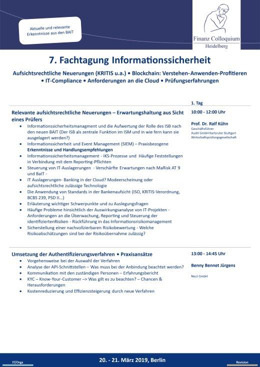 7 Fachtagung Informationssicherheit