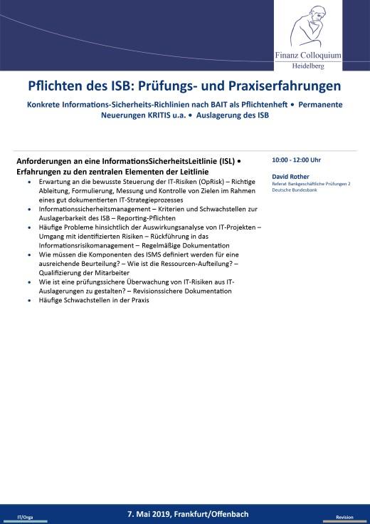 Pflichten des ISB Pruefungs und Praxiserfahrungen