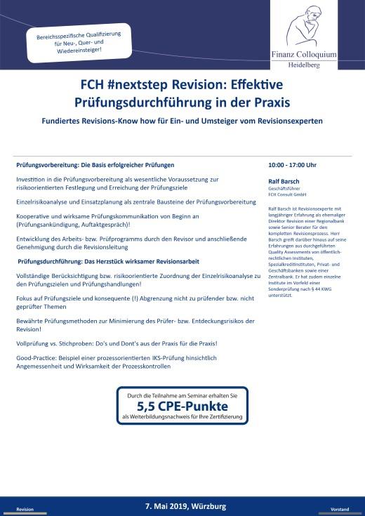 FCH nextstep Revision Effektive Pruefungsdurchfuehrung in der Praxis