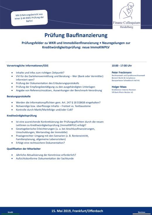 Pruefung Baufinanzierung